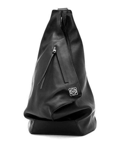 Anton One-Shoulder Backpack, Black