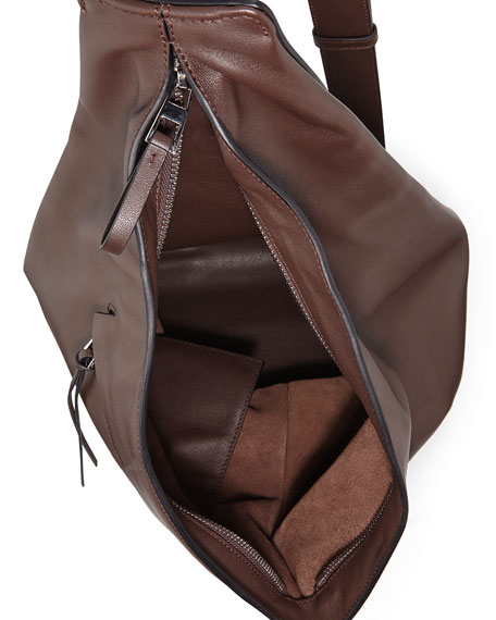 Anton One-Shoulder Backpack, Brown