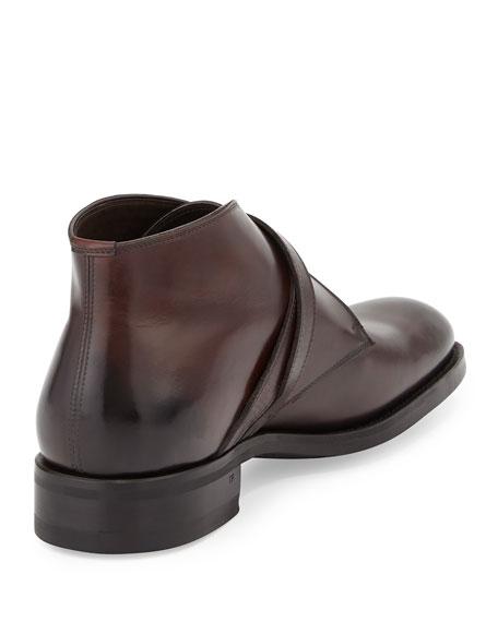Edward Double-Buckle Boot, Burgundy