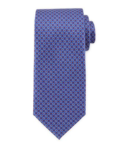 Bubble-Pattern Woven Tie, Blue