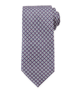 Circle Pattern Silk Tie, Pink