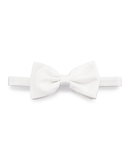 Satin Bow Tie, Off White