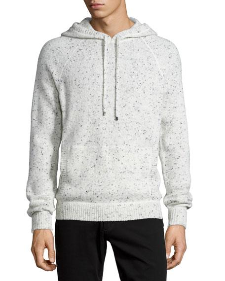Donegal Hoodie Sweatshirt, White