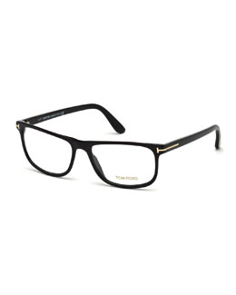 Acetate Square Eyeglasses, Black