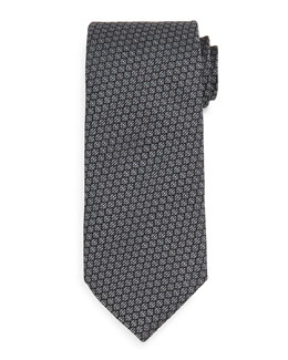 Textured Neat Tie, Charcoal