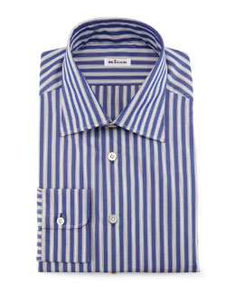 Micro-Houndstooth Dress Shirt, Blue