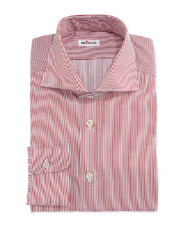 Mini-Bengal Stripe Dress Shirt, Red