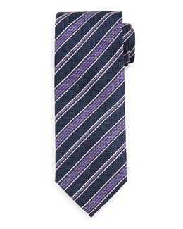 Grenadine Striped Tie, Blue