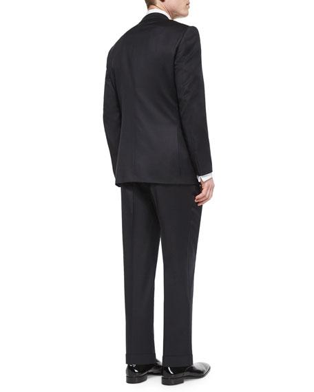 d4ac0fca One-Button Wool Tuxedo Jacket Black