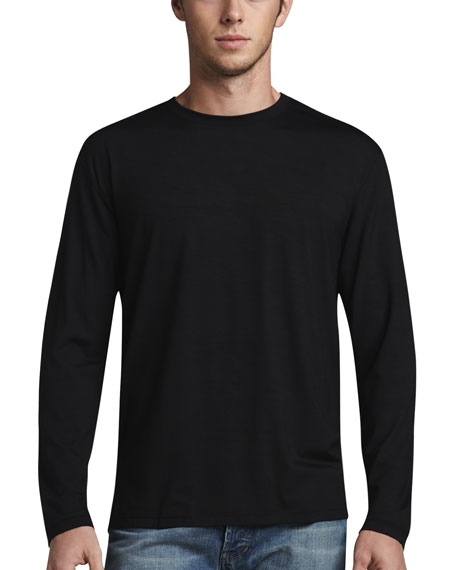 Derek Rose Basel 1 Long-Sleeve Jersey Tee, Black