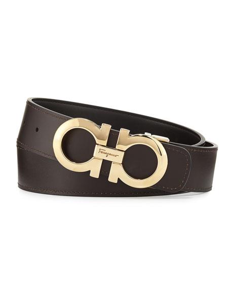 e1cba7bac Salvatore Ferragamo Men's Double-Gancini Reversible Leather Belt ...