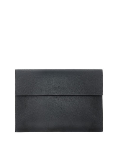 Revival Men's Leather Portfolio, Black