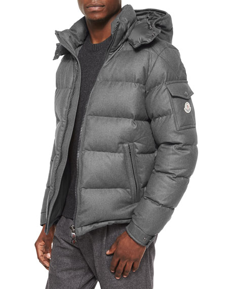 Moncler Montgenevre Quilted Down Jacket Gray