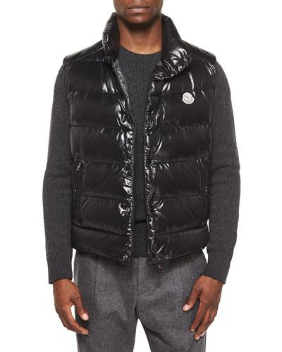 Tib Puffer Vest, Black
