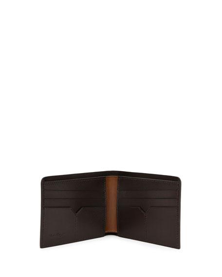 Gancini Leather Bifold Wallet, Brown