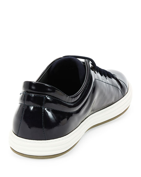 Patent Leather Low-Top Sneaker, Navy