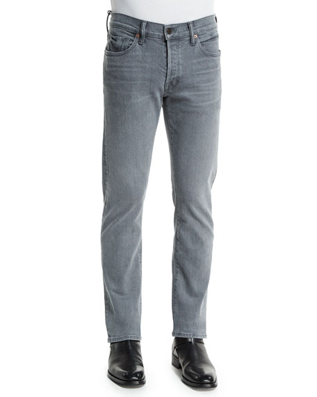 TOM FORD Straight-Fit Yarn-Dyed Selvedge Denim Jeans, Light