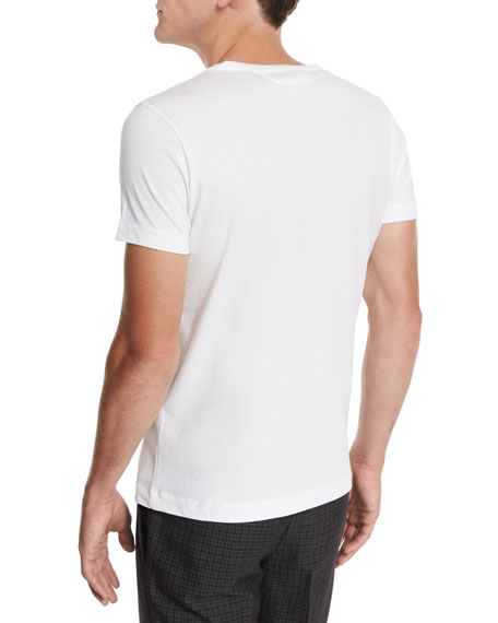 Crewneck Short-Sleeve T-Shirt, White