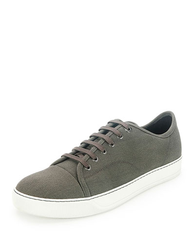 Men's Cap-Toe Low-Top Sneaker, Khaki