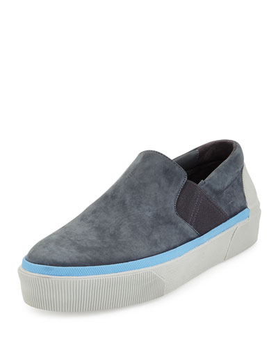 Men's Suede Skate Sneaker, Dark Gray