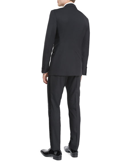 Buckley Base Peak-Lapel Tuxedo, Black