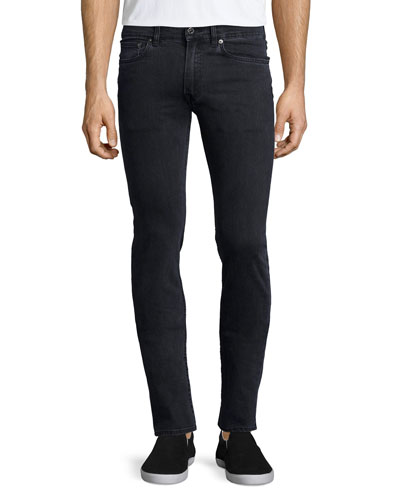 Ace Used Cash Slim-Fit Jeans, Dark Gray