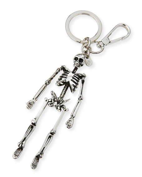 Alexander McQueen Brass Skeleton Key Ring