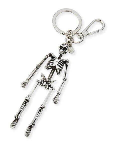 Alexander McQueen Brass Skeleton Key Ring