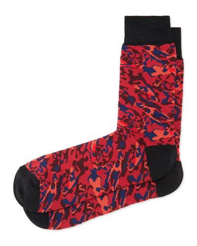 Camo-Print Socks