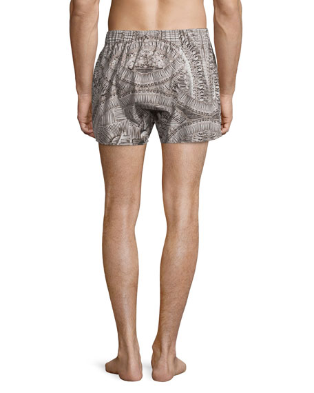 Bones Printed Boxer Shorts, Natural/Black