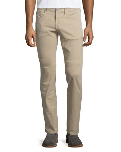Matchbox Five-Pocket Twill Pants, Tan