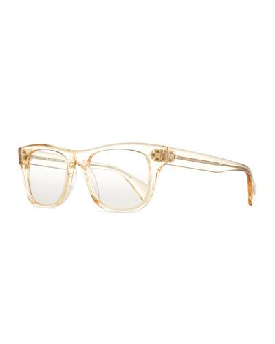 Jack Huston 52 Fashion Glasses, Yellow