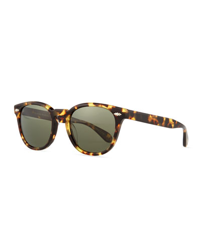 Sheldrake Plus 52 Polarized Sunglasses, Dark Brown