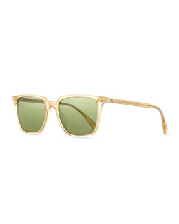 OPLL Sun 53 Polarized Sunglasses, Gold