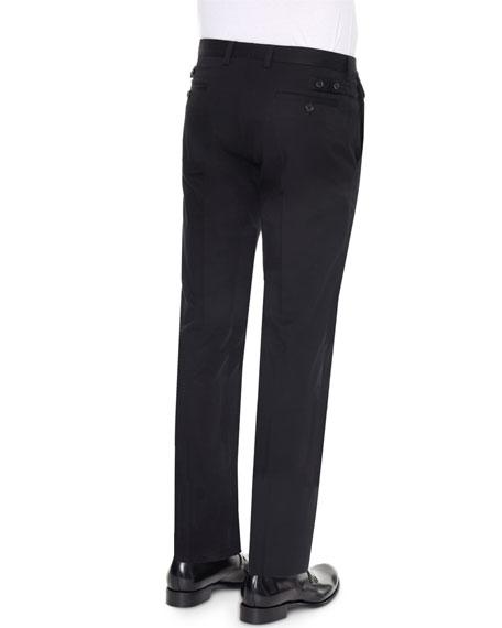 Dolce Amp Gabbana Front Pocket Slim Fit Dress Pants Black