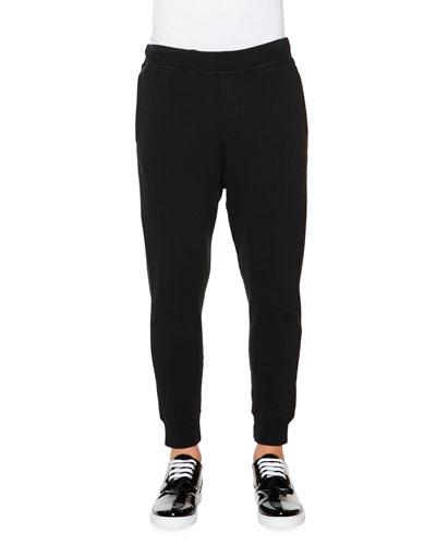 Knit Jogger Sweatpants, Black