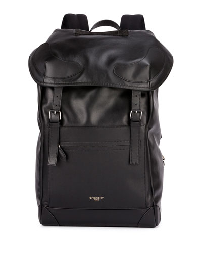 Rider Leather Backpack, Black
