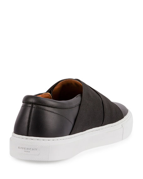 Leather Skate Sneaker, Black