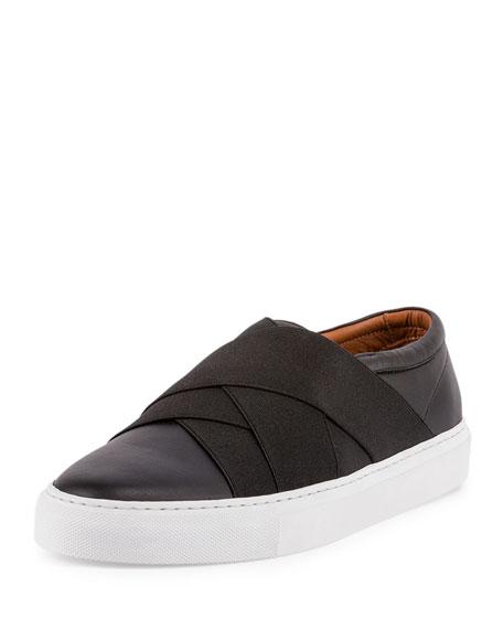 Leather Skate Sneaker, Black