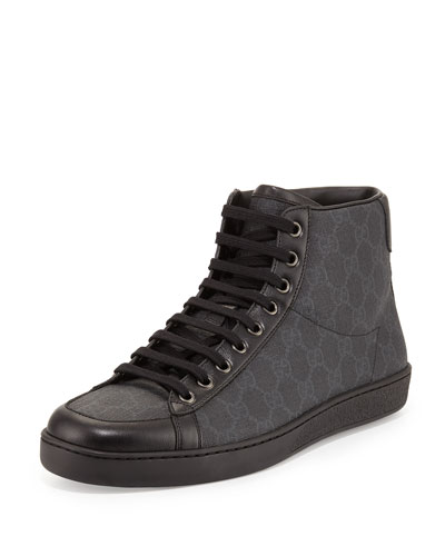 Brooklyn GG Supreme High-Top Sneaker, Black