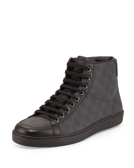 gucci gg supreme high top sneakers