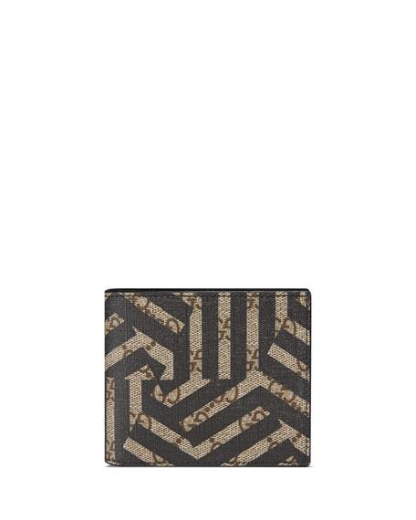 GG Caleido Bi-Fold Wallet, Black/Beige