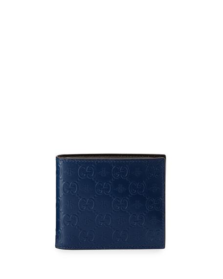 3f07857ca31 Gucci Alveare GG Leather Bi-Fold Wallet