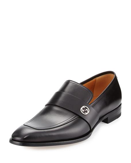 Broadwick Leather Loafer, Black