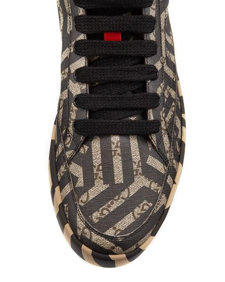 GG Caleido Canvas High-Top Sneaker, Brown/Black