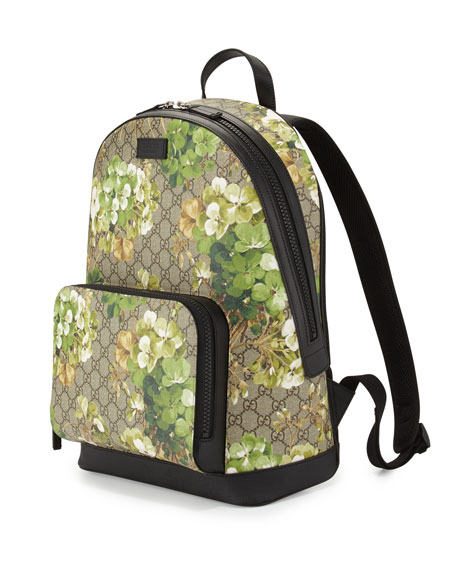 f8902a9bbbf Gucci GG Blooms Canvas Backpack