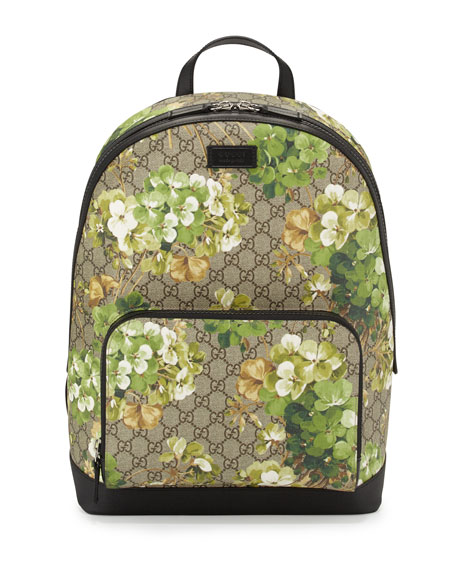 8541a5c8f9c1 GG Blooms Canvas Backpack Multi