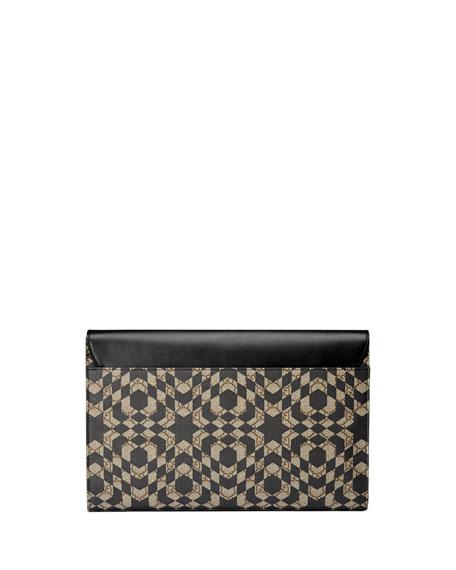 9161f02a740f Gucci GG Caleido Canvas Portfolio Case, Black/Beige