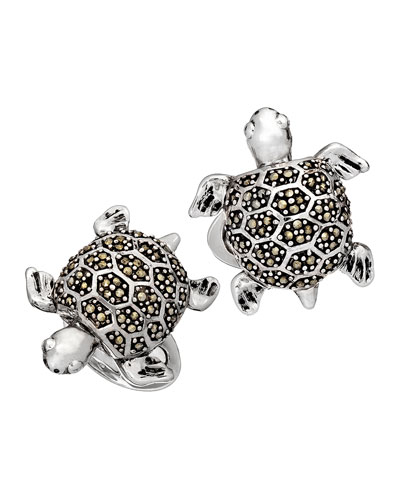 Marcasite Turtle Cuff Links