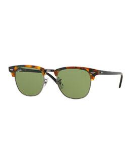 Clubmaster Sunglasses, Havana Brown